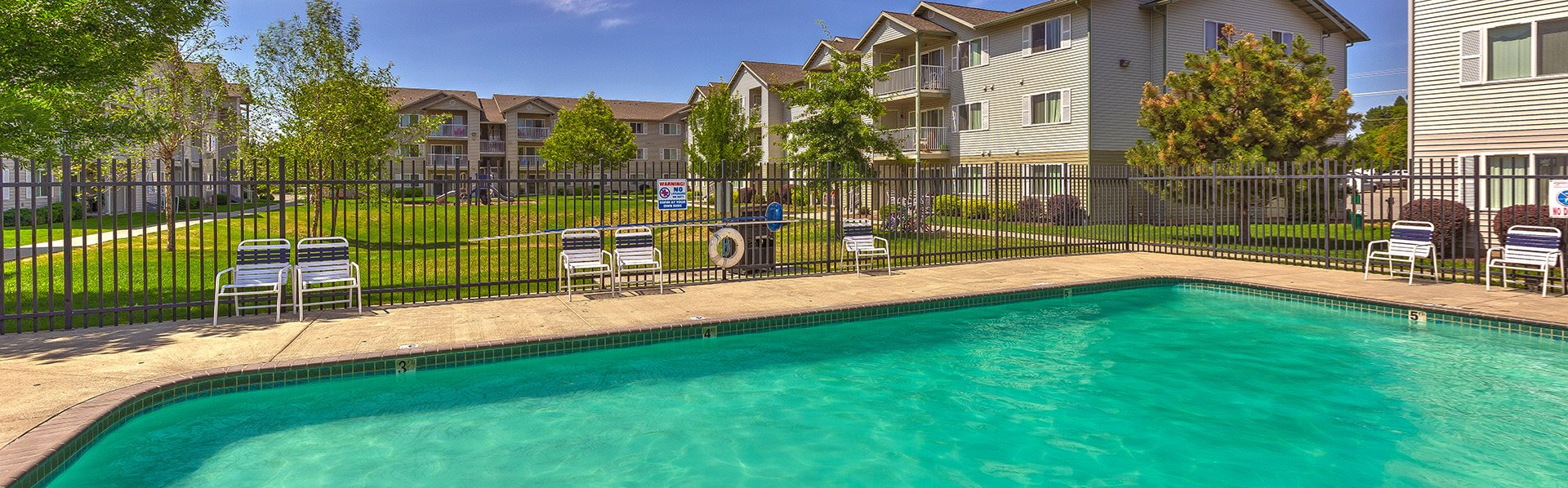 Swimming pool at Falls Creek Apartments